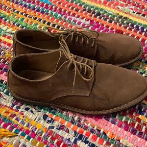 J crew oxford suede shoes